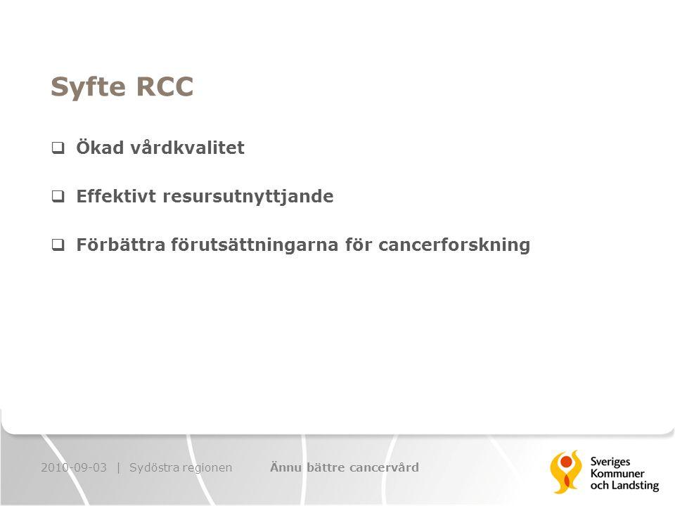 400 000 kr till vardera prostatacancerregistret och bröstcancerregistret Ta fram patientrapporterade mått samt hur dessa ska följas 2010-09-03 | Sydöstra regionenÄnnu bättre cancervård Kvalitetsregister