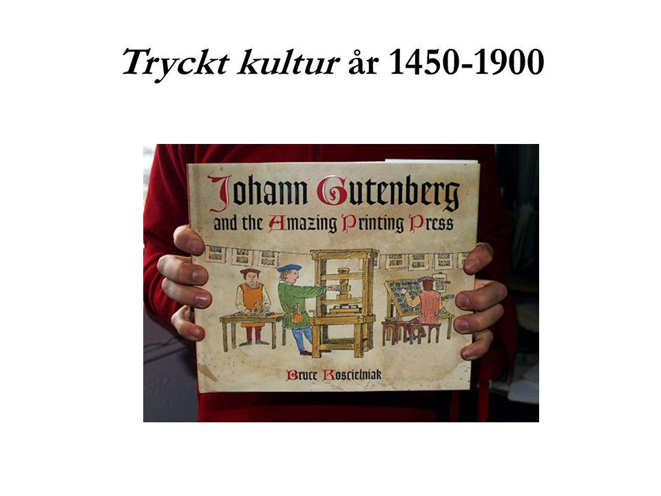 Tryckt kultur år 1450-1900