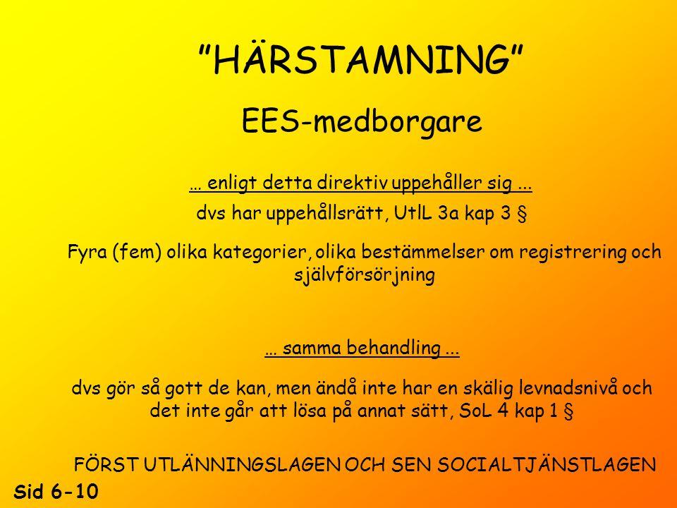 HÄRSTAMNING EES-medborgare KAMMARRÄTTSDOMAR...