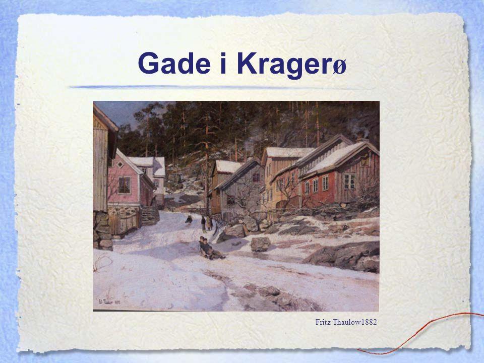 Gade i Krager ø Fritz Thaulow1882