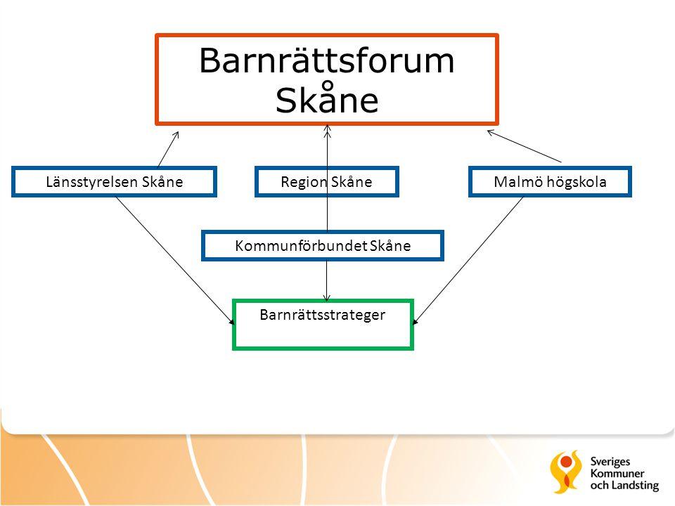 Länsstyrelsen SkåneMalmö högskolaRegion Skåne Kommunförbundet Skåne Barnrättsstrateger