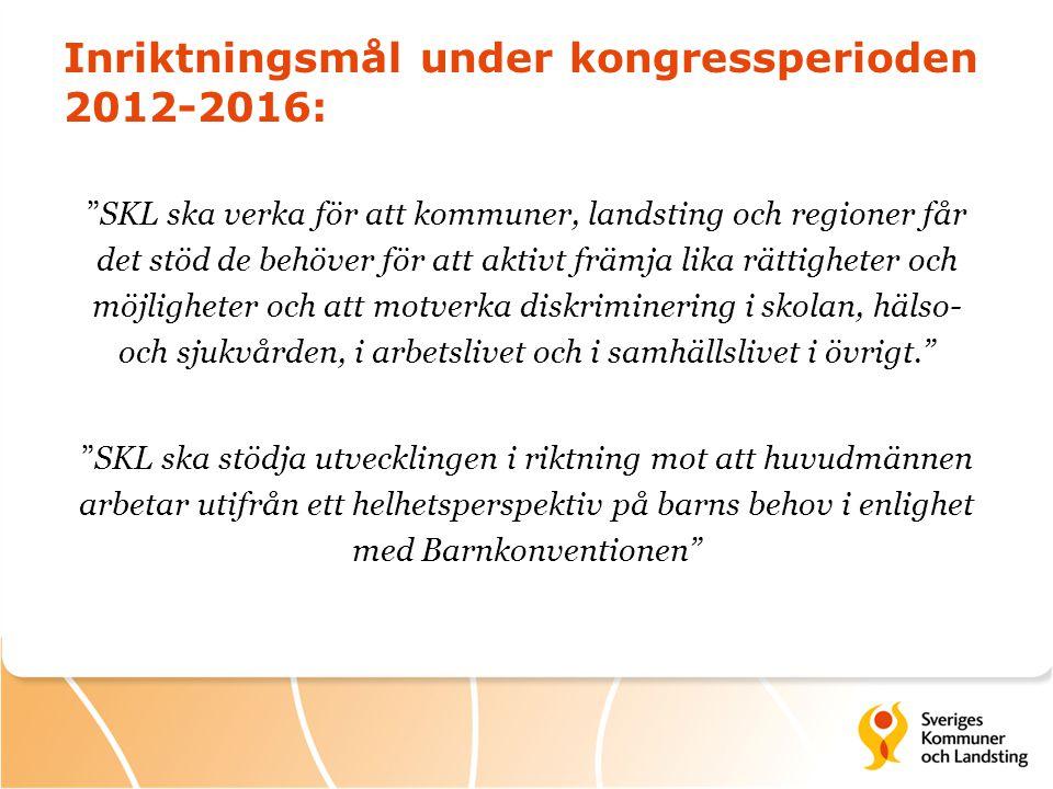 SKL internt  Internutbildning  Samverkan mellan avdelningar  Kunskap om att området nu är ordinarie verksamhet  Ny överenskommelse
