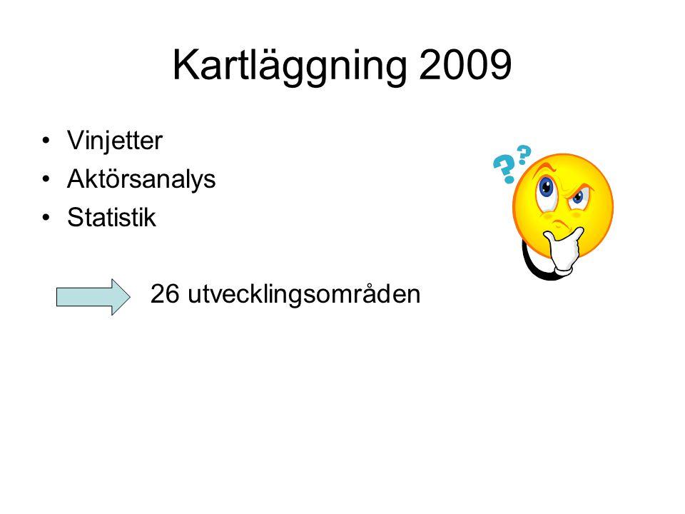Kartläggning 2009 Vinjetter Aktörsanalys Statistik 26 utvecklingsområden