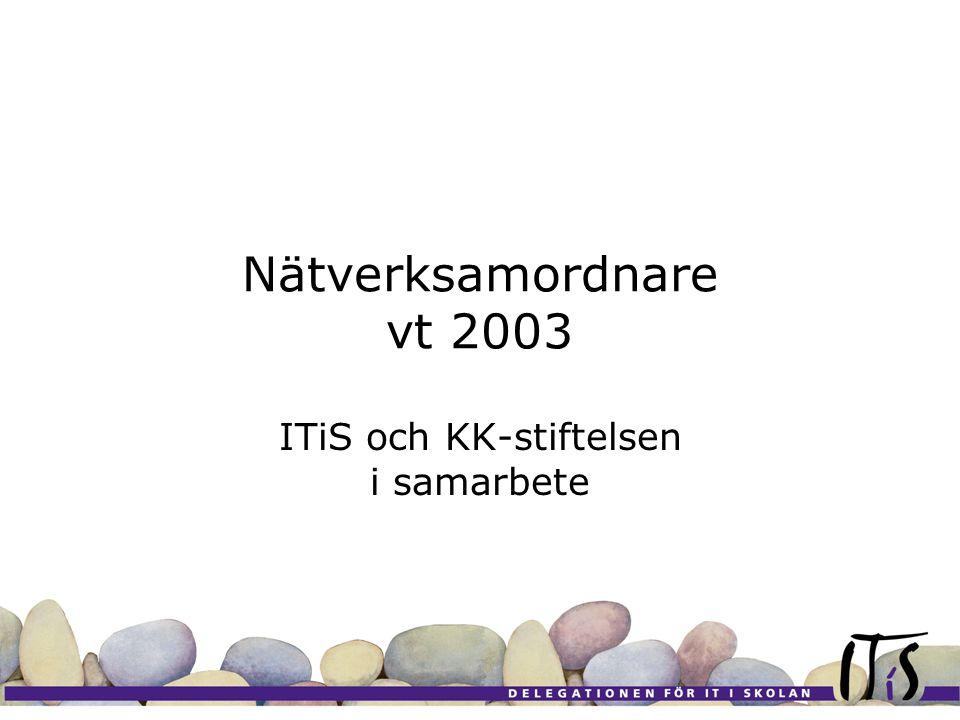 Bakgrund KK-stiftelsens skolsatsning ITiS Budgetproppen Skolverket Myndigheten för skolutveckling