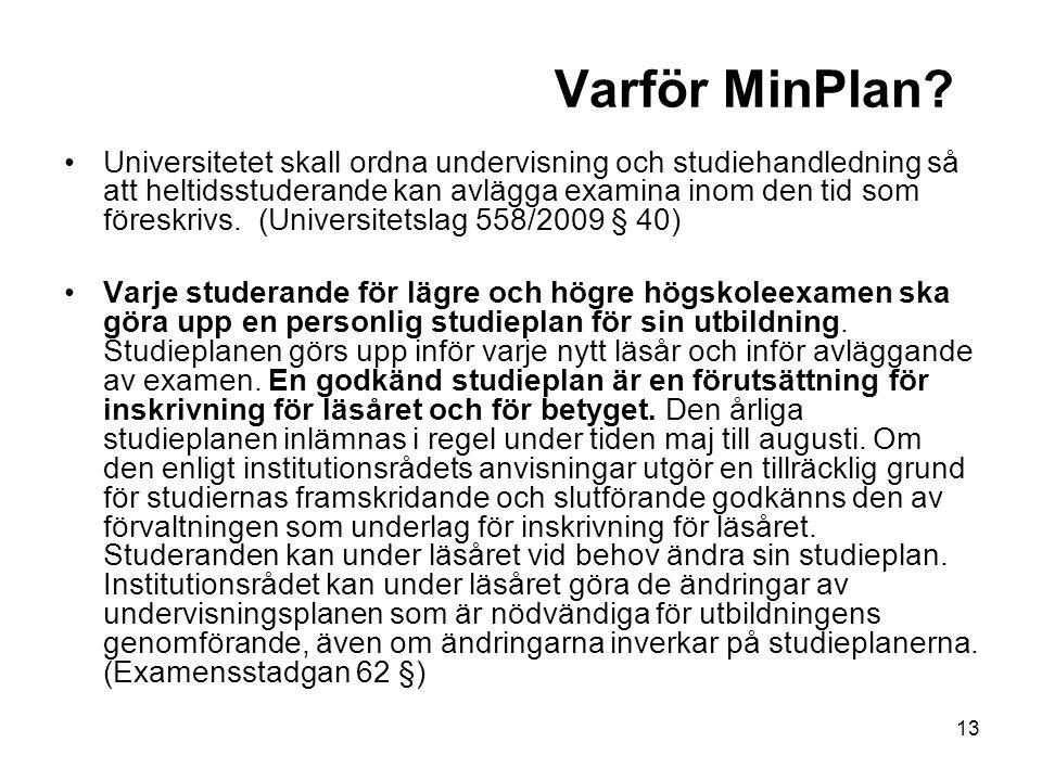 13 Varför MinPlan.