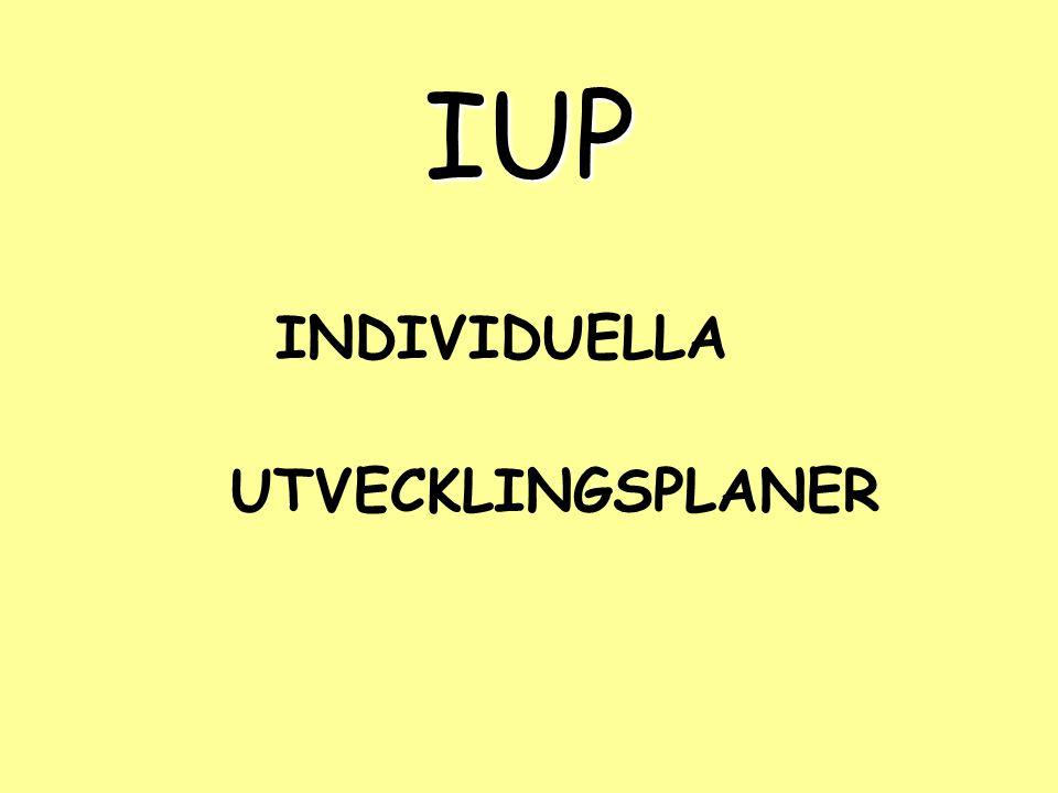 Guide till IUP - arbetsgång Omvärldsbevakning och materialinsamling Hur arbetar man på skolor idag.
