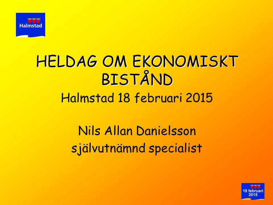 HELDAG OM EKONOMISKT BISTÅND Halmstad 18 februari 2015 Nils Allan Danielsson självutnämnd specialist