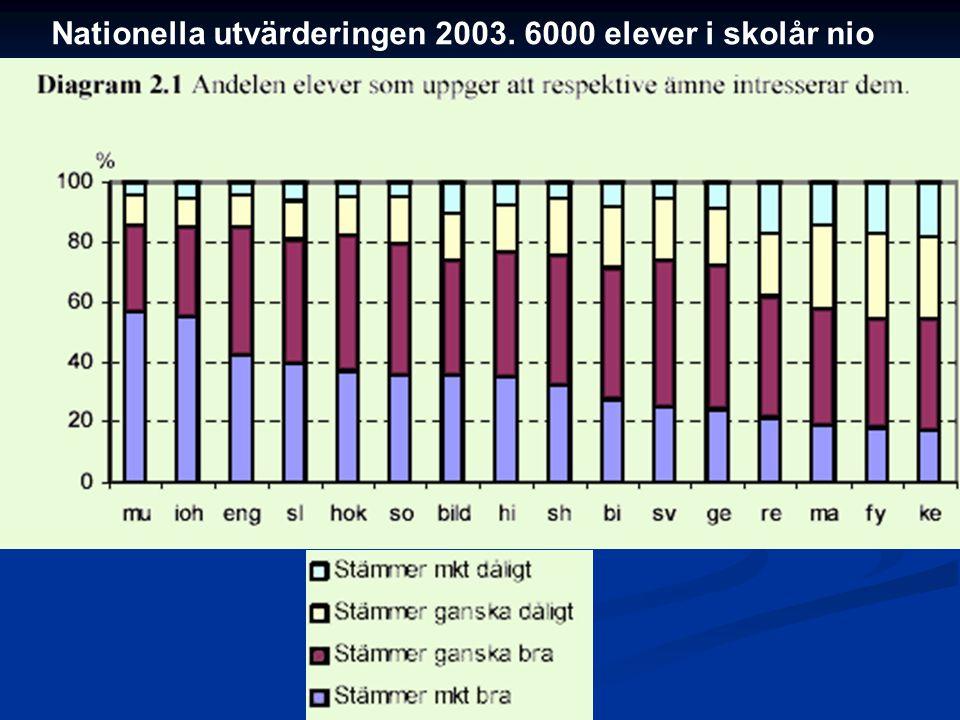 Nationella utvärderingen 2003. 6000 elever i skolår nio