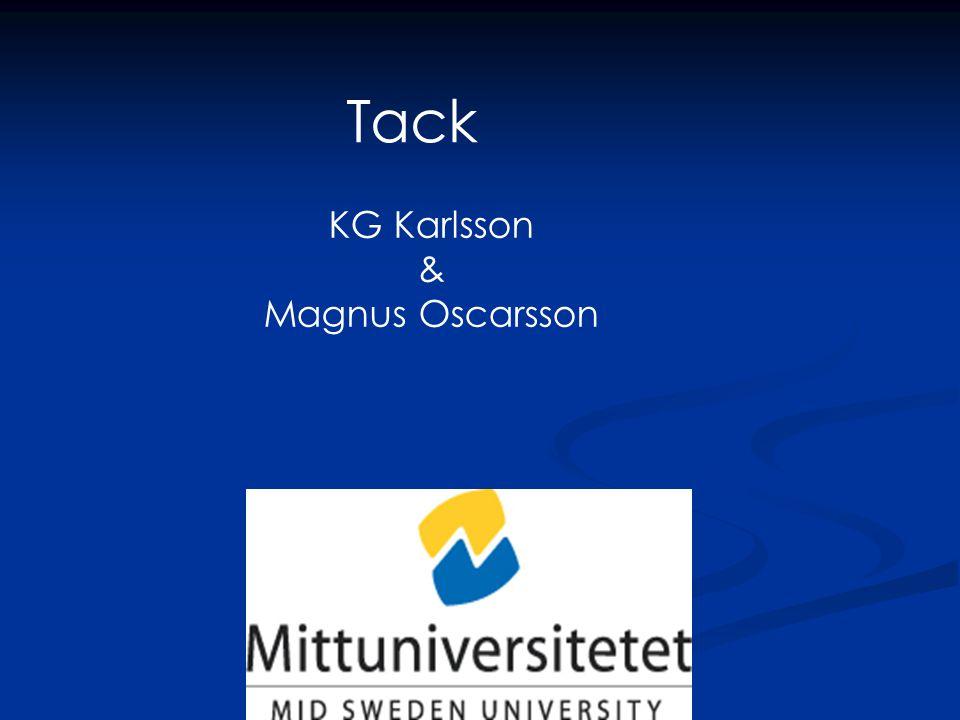 Tack KG Karlsson & Magnus Oscarsson