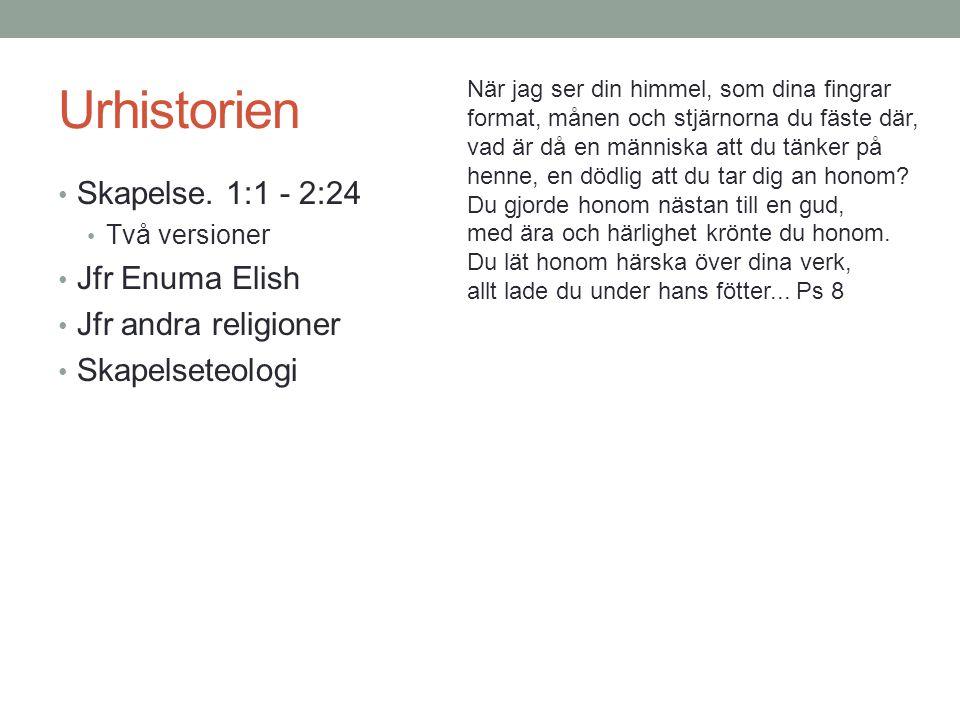 Urhistorien Ut från Eden 2:25 – 3:24