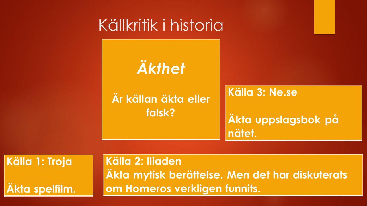 Källkritik i historia Urval Vad har tagits med.Vad har valts bort.