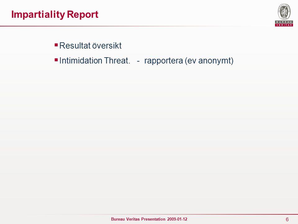 7 Bureau Veritas Presentation 2009-01-12 Approval Review / Auditor Audit  Sören input …….