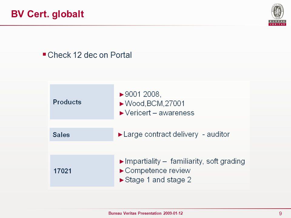 10 Bureau Veritas Presentation 2009-01-12 Kalibreringar  Obligatoriska  Dokumenteras  Uppgifter, interaktivt…..