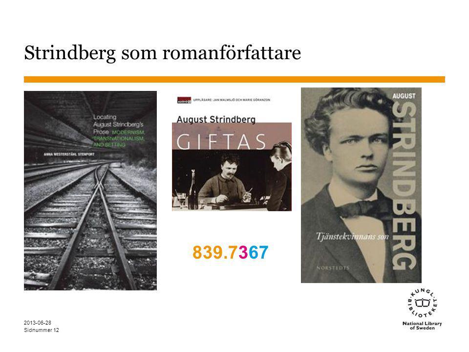 Sidnummer 12 Strindberg som romanförfattare 839.7367 2013-06-28