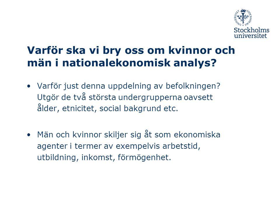 2009-10-15/ Anne Boschini, Nationalekonomiska institutionen Tidsanvändningen i Sverige 2000/2001 MÄN KVINNOR