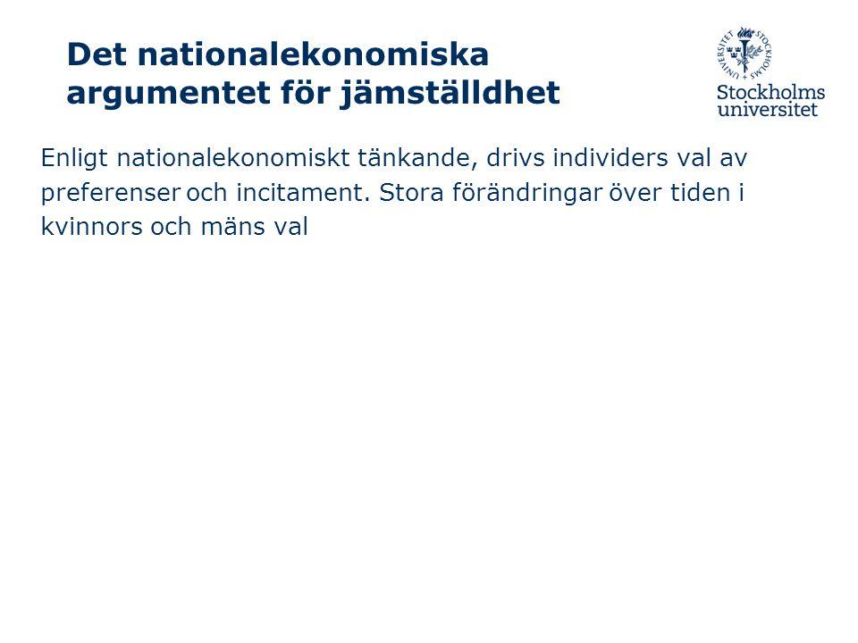 2009-10-15/ Anne Boschini, Nationalekonomiska institutionen Genusskillnader i inkomster i Sverige