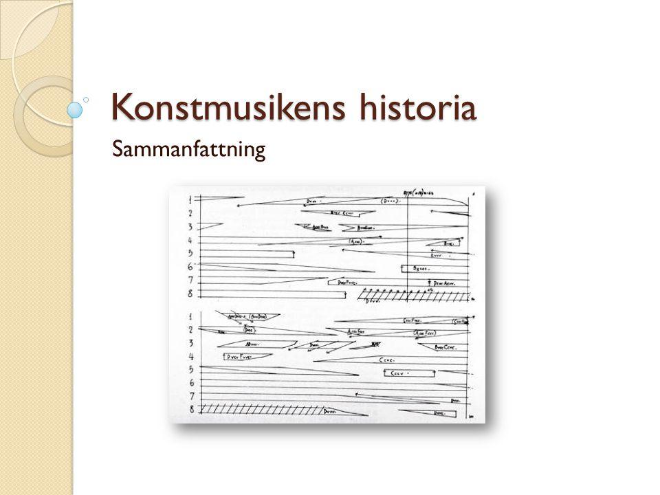 Konstmusikens historia Sammanfattning