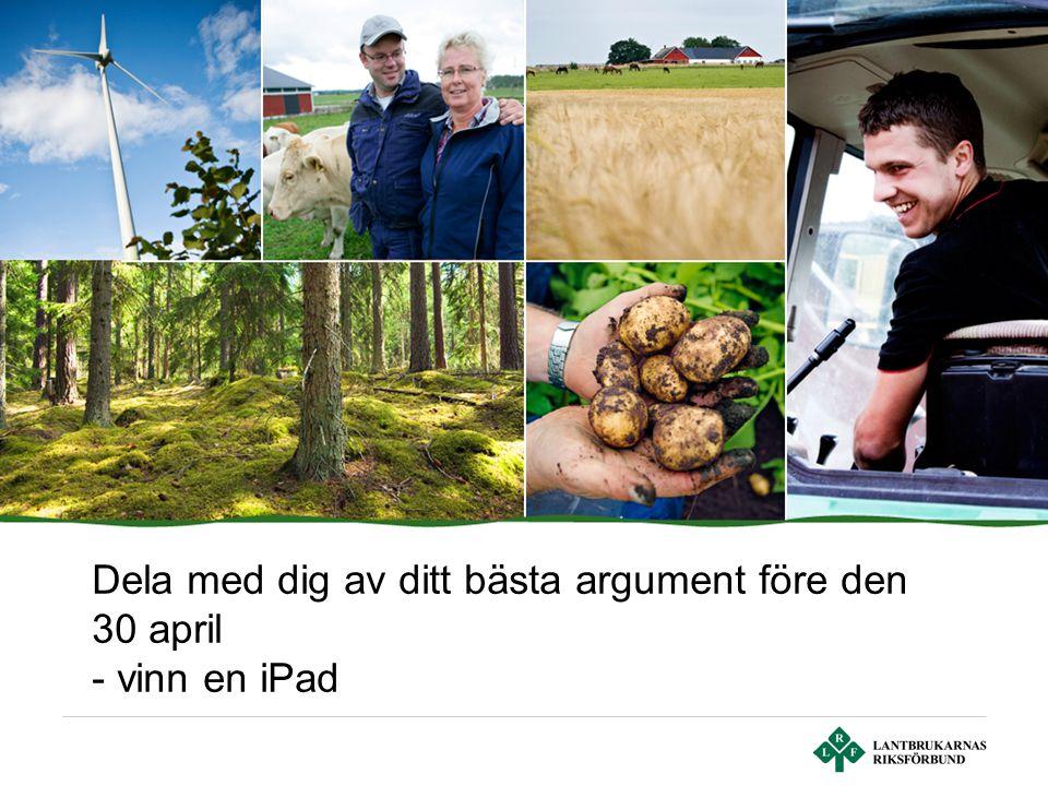 Dela med dig av ditt bästa argument före den 30 april - vinn en iPad