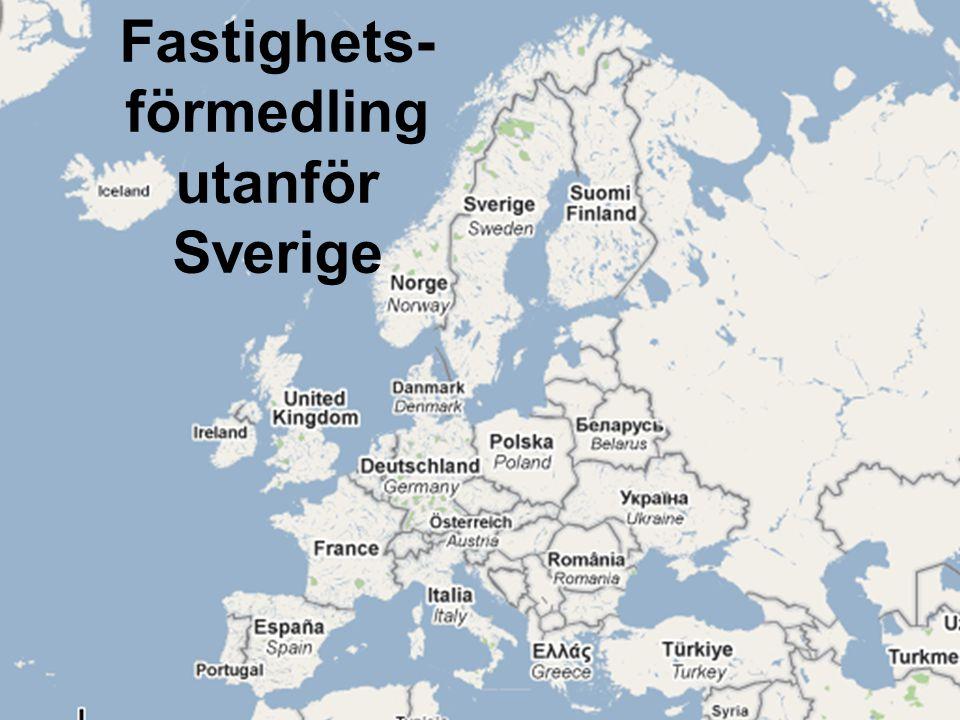 Fastighets- förmedling utanför Sverige