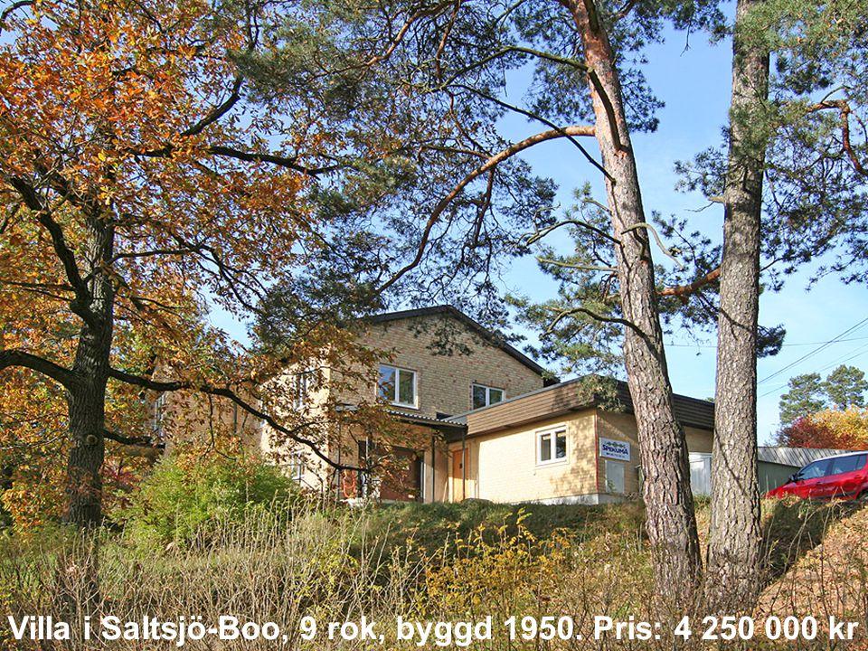 Villa i Saltsjö-Boo, 9 rok, byggd 1950. Pris: 4 250 000 kr
