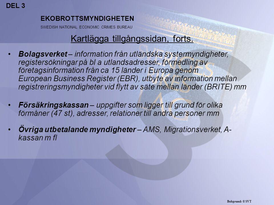 EKOBROTTSMYNDIGHETEN SWEDISH NATIONAL ECONOMIC CRIMES BUREAU Utgifter och kostnader dras av vid beräkningen av utbytet Utgifter som strider mot lag är inte avdragsgilla kostnader Inköp av hjälpmedel för genomförande av brott är inte avdragsgilla Kostnader som varit förenat vid ett bedrägeri bör dras av från egendomens värde vid ett förverkande (prop 1986/87:6 s 37) Nettoprincipen Bakgrund: © SVT