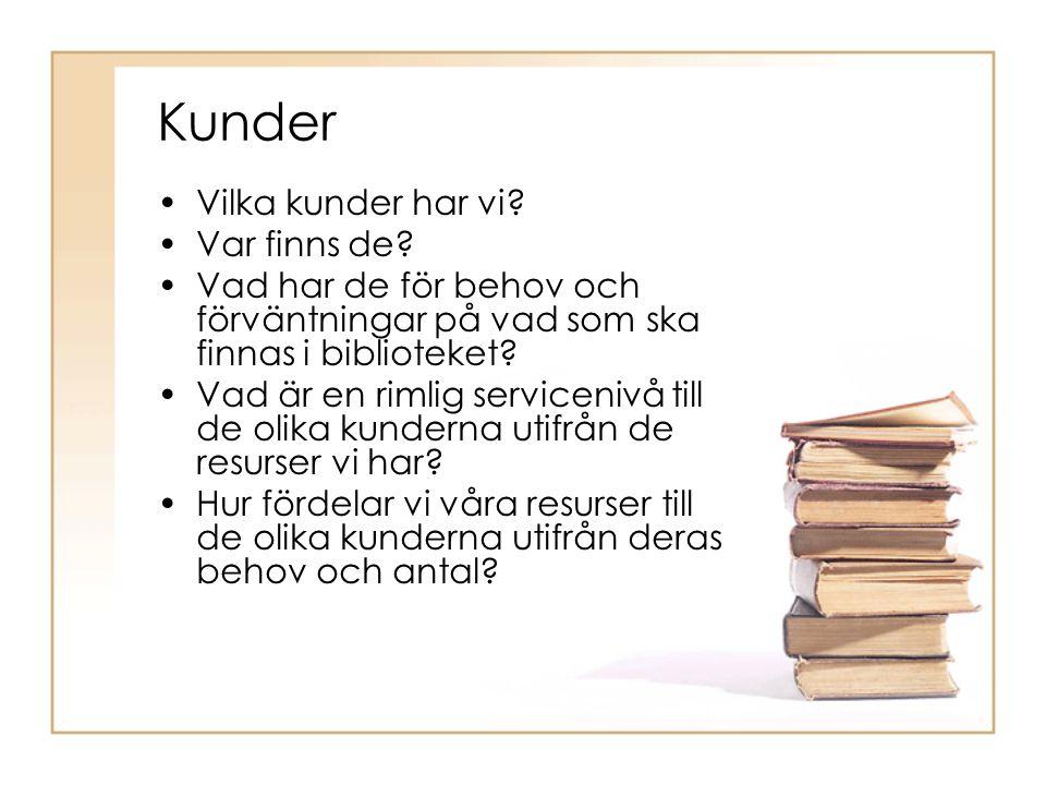 Bibliotekets identiteter och funktioner… Mål/uppdrag – Kunder – Medier/utbud Bibliotekets identiteter… Hur uppfattas vi av våra kunder.