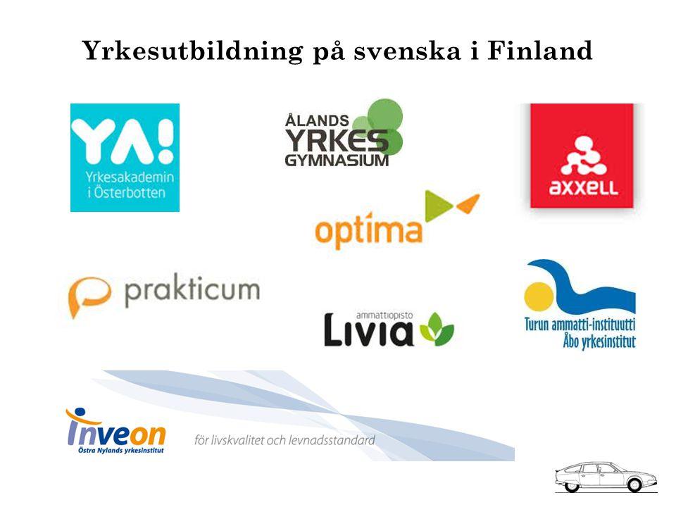 Yrkesutbildning på svenska i Finland