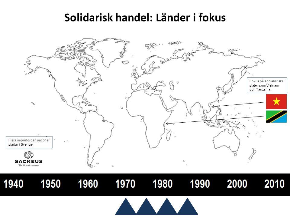 Rättvis handel: Producenter i fokus 1997 antar Världsbutikerna för Rättvis Handel sitt nuvarande namn och alla medlemmar övergår till att heta världsbutiker.
