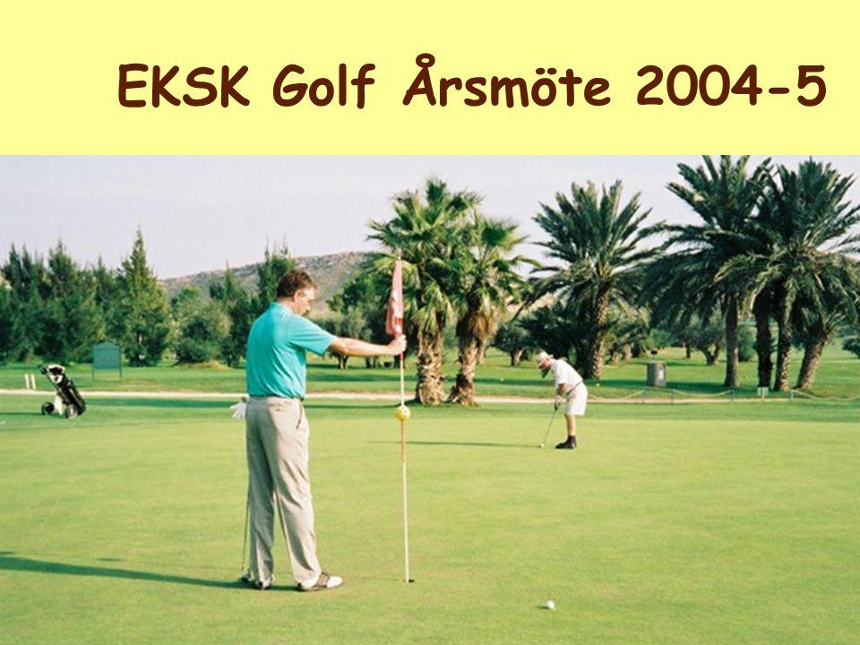 EKSK Golf Årsmöte 2004-5