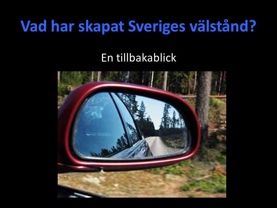 Vad har skapat Sveriges välstånd? En tillbakablick