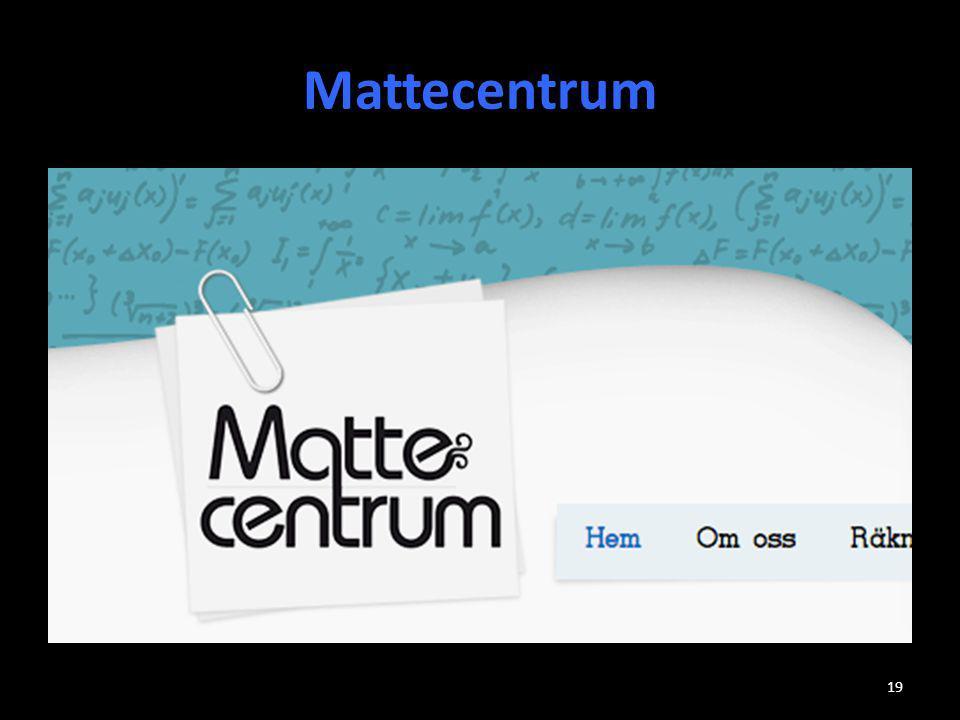 Mattecentrum 19