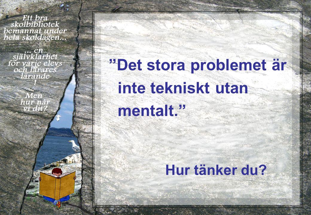 Det stora problemet är inte tekniskt utan mentalt. Hur tänker du