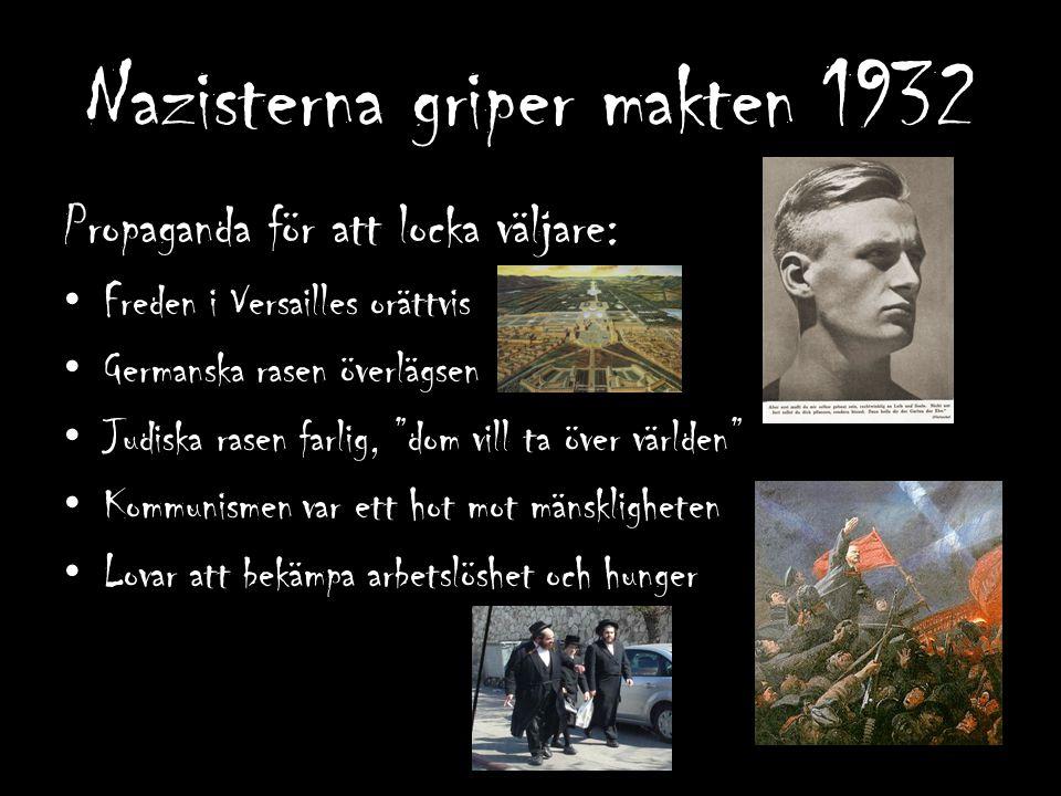 Nazisterna får aldrig majoritet men politiska motståndare mördas.