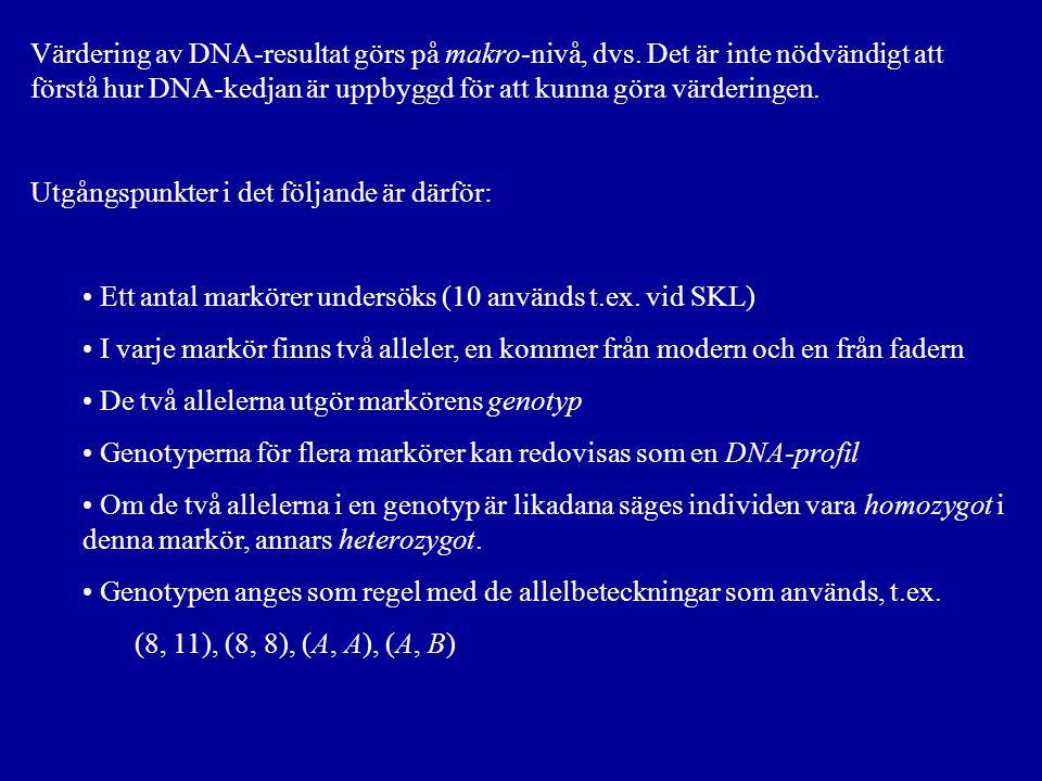 Värdering av DNA-resultat görs på makro-nivå, dvs.