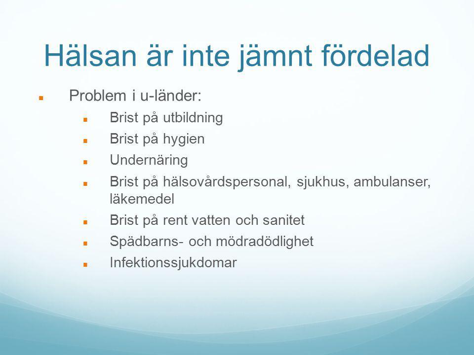 Diabetes av typ 2 Samma symptom som vid typ 1 diabetes Kroppen kan inte utnyttja sig av det insulin som produceras (mer eller mindre än normalt) = Insulinresistens Kallas även åldersdiabetes Uppkommer småningom Fasteglukosvärde > 7 mmol/l (normalt 4-6 mmol/l) Prevalens ca 250 000 personer i Finland.