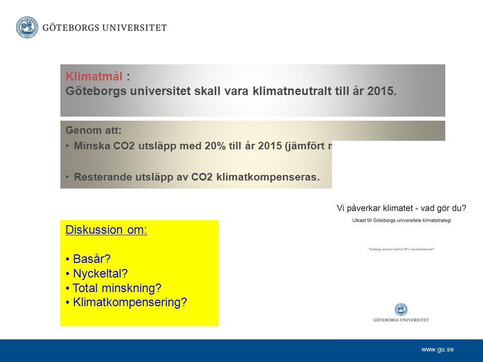 www.gu.se Universitetets klimatstrategi omfattar åtta åtgärdsområden.