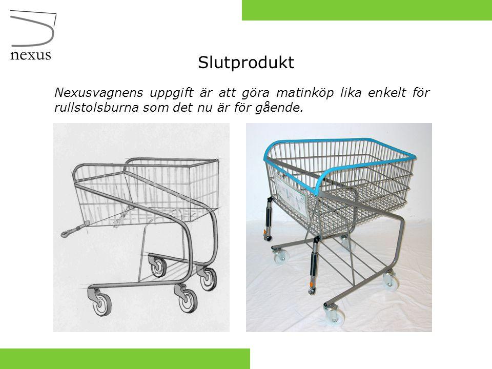Slutprodukt Nexusvagnens uppgift är att göra matinköp lika enkelt för rullstolsburna som det nu är för gående.