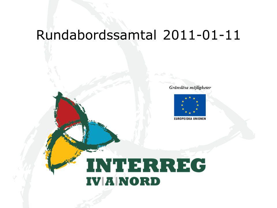 Interreg Nord och ENPI Några skillnader denna programperiod jmf med föregående Nord programmet och läget i program genomförandet ENPI och det aktuella läget Några tankar om kommande period Gränslösa möjligheter