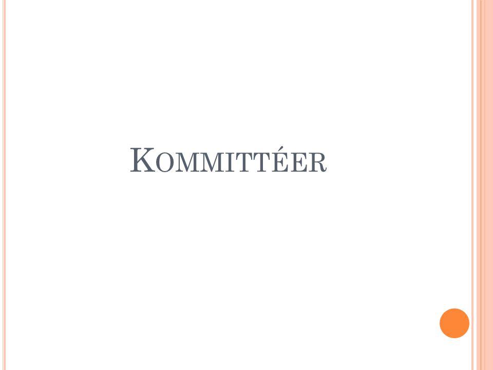 K OMMITTÉER
