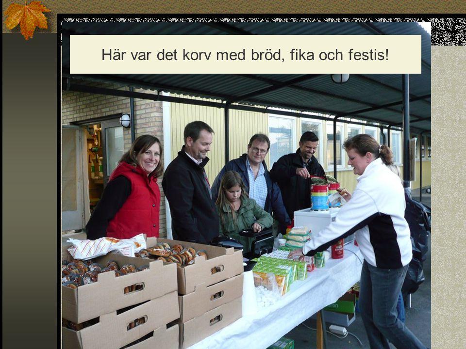 Här var det korv med bröd, fika och festis!