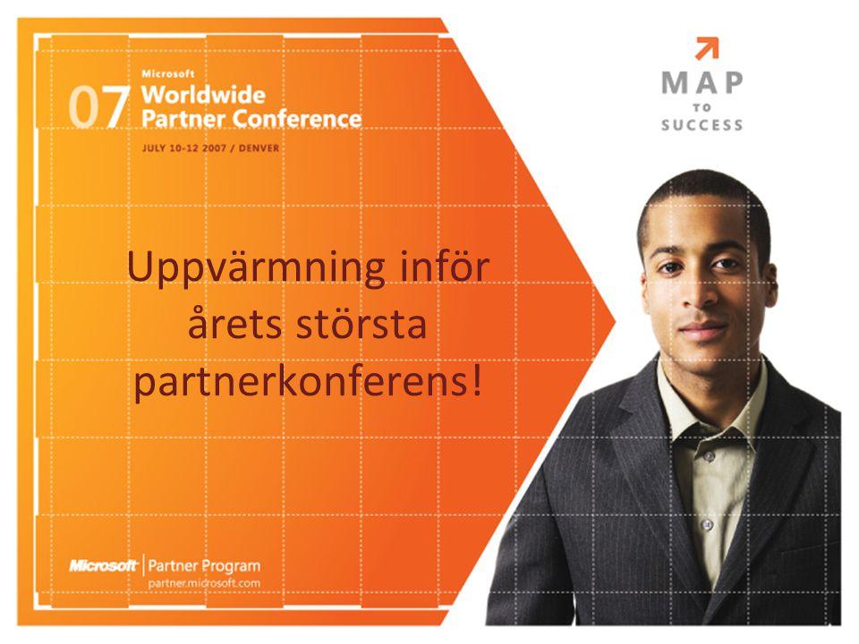 Uppvärmning inför årets största partnerkonferens!
