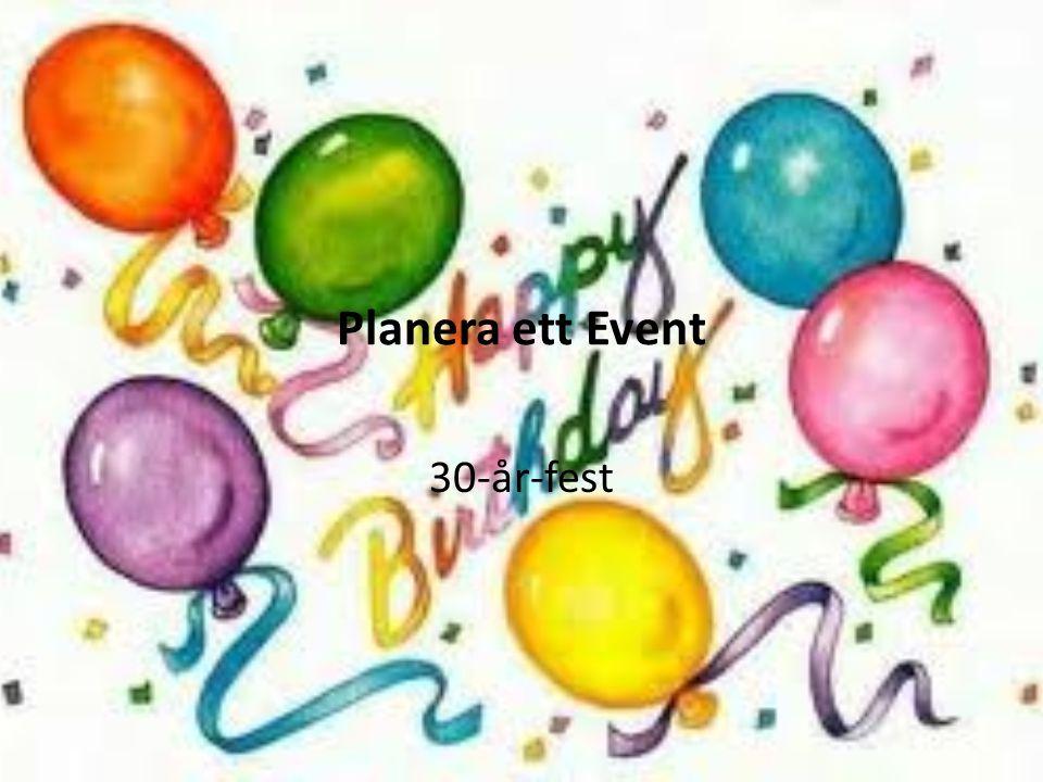 Varför just detta event Många fyller 30 år och alla vi tyckte att det vore jättekul att planera det här som ett event tills när vi fyller 30 år.