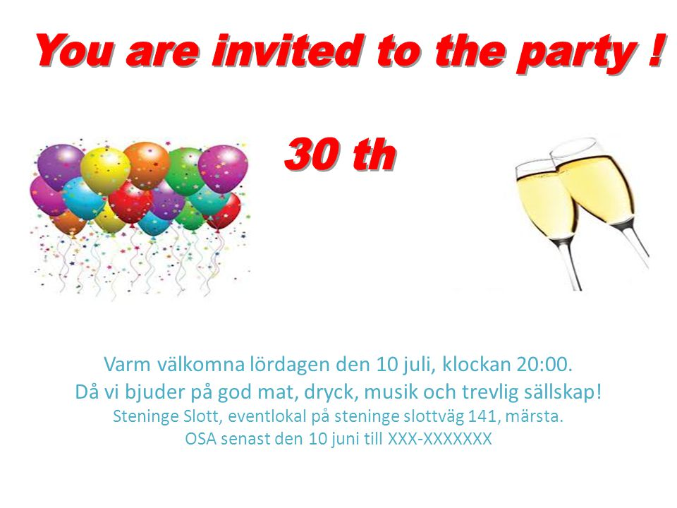 Varm välkomna lördagen den 10 juli, klockan 20:00. Då vi bjuder på god mat, dryck, musik och trevlig sällskap! Steninge Slott, eventlokal på steninge
