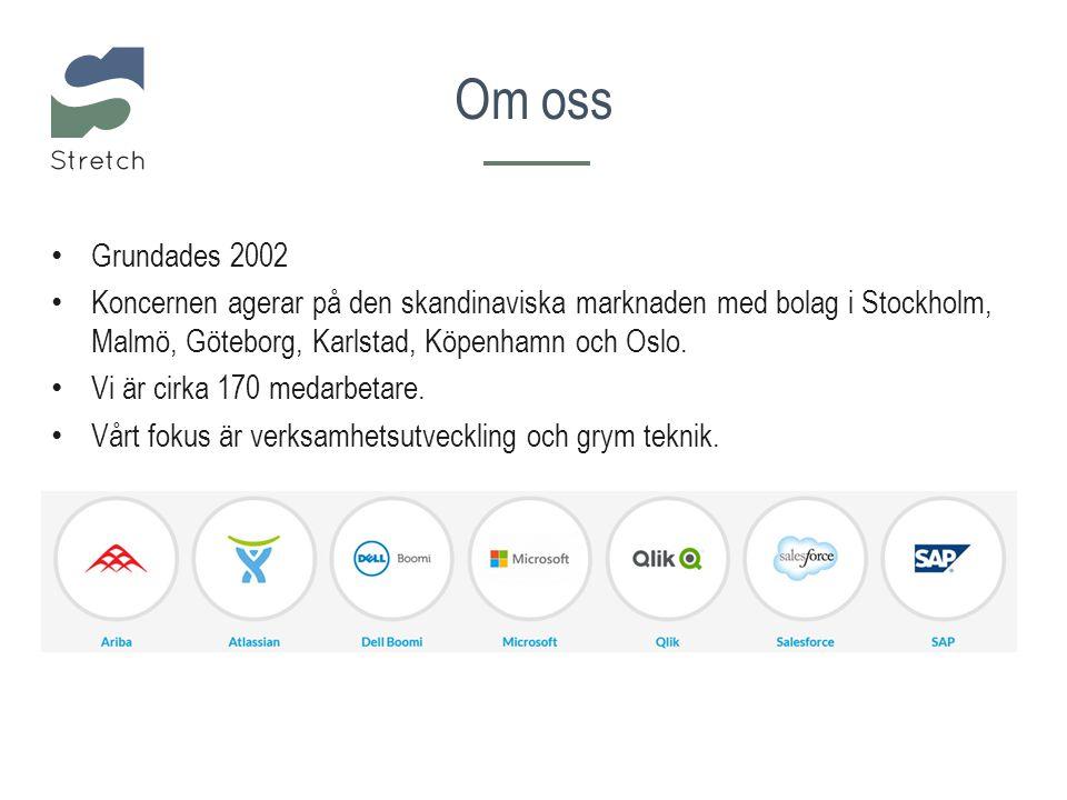 Om oss Grundades 2002 Koncernen agerar på den skandinaviska marknaden med bolag i Stockholm, Malmö, Göteborg, Karlstad, Köpenhamn och Oslo. Vi är cirk