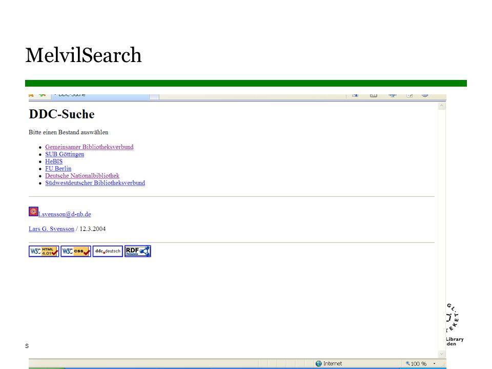 Sidnummer MelvilSearch