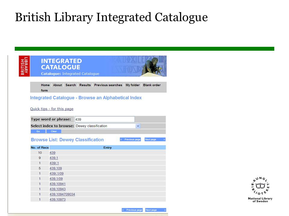 Sidnummer British Library Integrated Catalogue