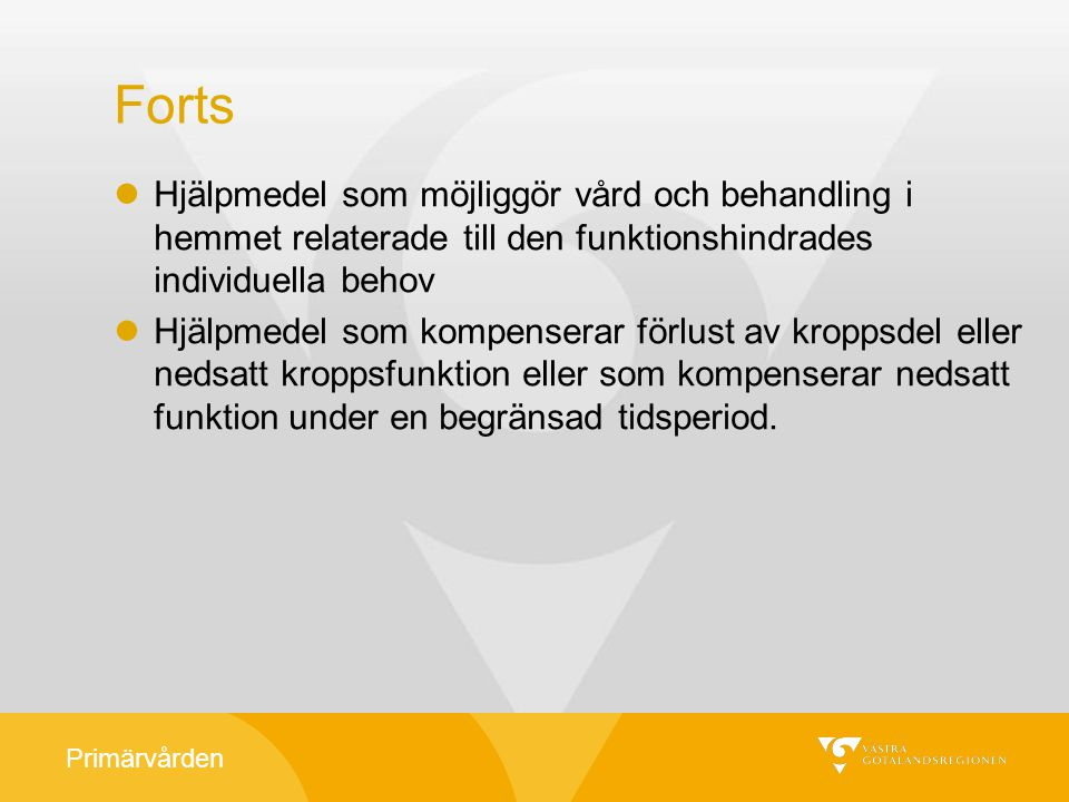 Primärvården Drivaggregat helhetsbedömning.