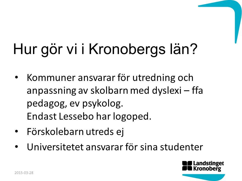 Hur gör vi i Kronobergs län.