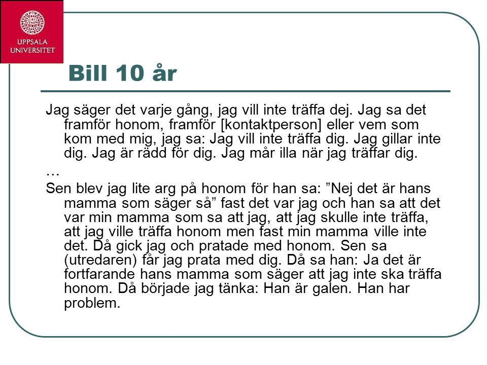 Bill 10 år Jag säger det varje gång, jag vill inte träffa dej.