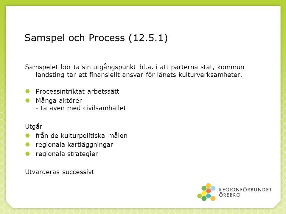 Samspel och Process (12.5.1) Samspelet bör ta sin utgångspunkt bl.a.